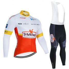 Ensemble cuissard vélo et maillot cyclisme hiver pro SAINT MICHEL-Auber 93