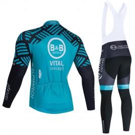 Ensemble cuissard vélo et maillot cyclisme hiver pro Vital Concept - B&B Hotels 2020