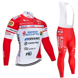 Ensemble cuissard vélo et maillot cyclisme hiver pro Androni Giocattoli 2020
