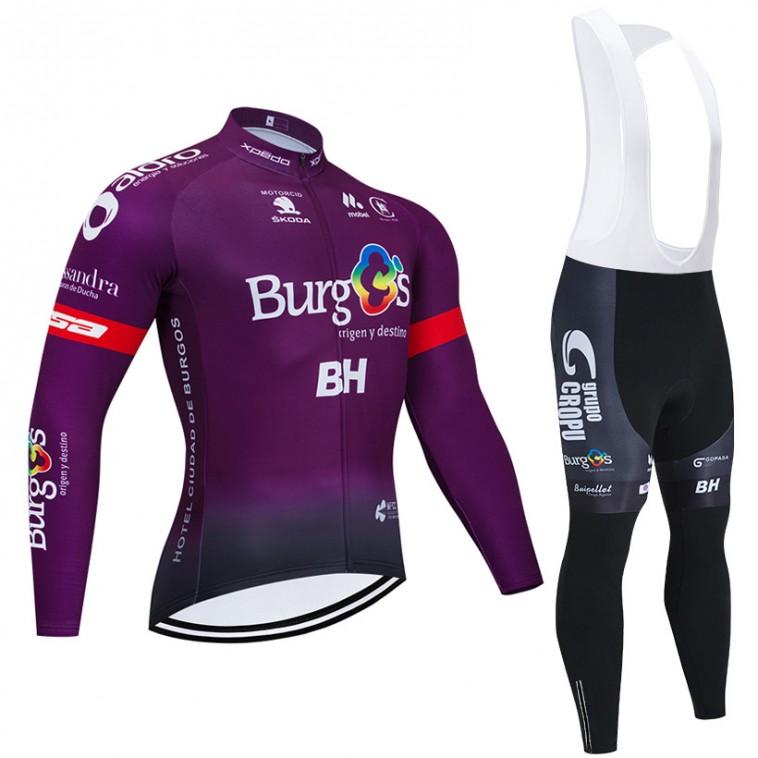 Ensemble cuissard vélo et maillot cyclisme hiver pro BURGOS BH 2020