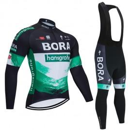 Ensemble cuissard vélo et maillot cyclisme hiver pro BORA Hansgrohe 2020