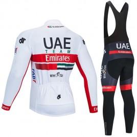 Ensemble cuissard vélo et maillot cyclisme hiver pro UAE Emirates 2020