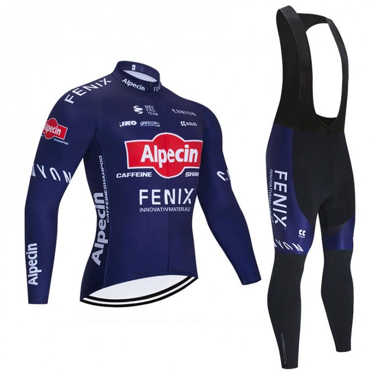 Ensemble cuissard vélo et maillot cyclisme hiver pro ALPECIN FENIX 2020