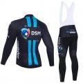 Ensemble cuissard vélo et maillot cyclisme hiver pro DSM 2021