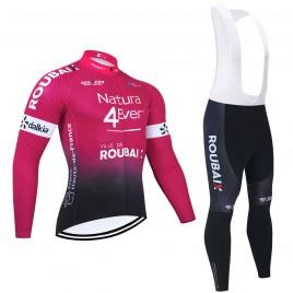 Ensemble cuissard vélo et maillot cyclisme hiver pro NATURA4EVER 2021