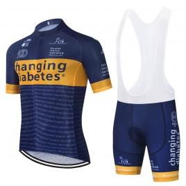 Ensemble cuissard vélo et maillot cyclisme équipe pro CHANGING DIABETES 2021 Aero Mesh
