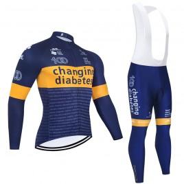 Ensemble cuissard vélo et maillot cyclisme hiver pro CHANGING DIABETES 2021
