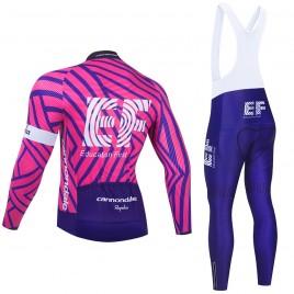 Ensemble cuissard vélo et maillot cyclisme hiver pro EF Education First 2021