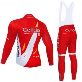 Ensemble cuissard vélo et maillot cyclisme hiver pro COFIDIS 2021