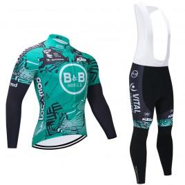 Ensemble cuissard vélo et maillot cyclisme hiver pro VITAL B&B 2021