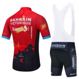 Ensemble cuissard vélo et maillot cyclisme équipe pro BAHRAIN 2021 Aero Mesh