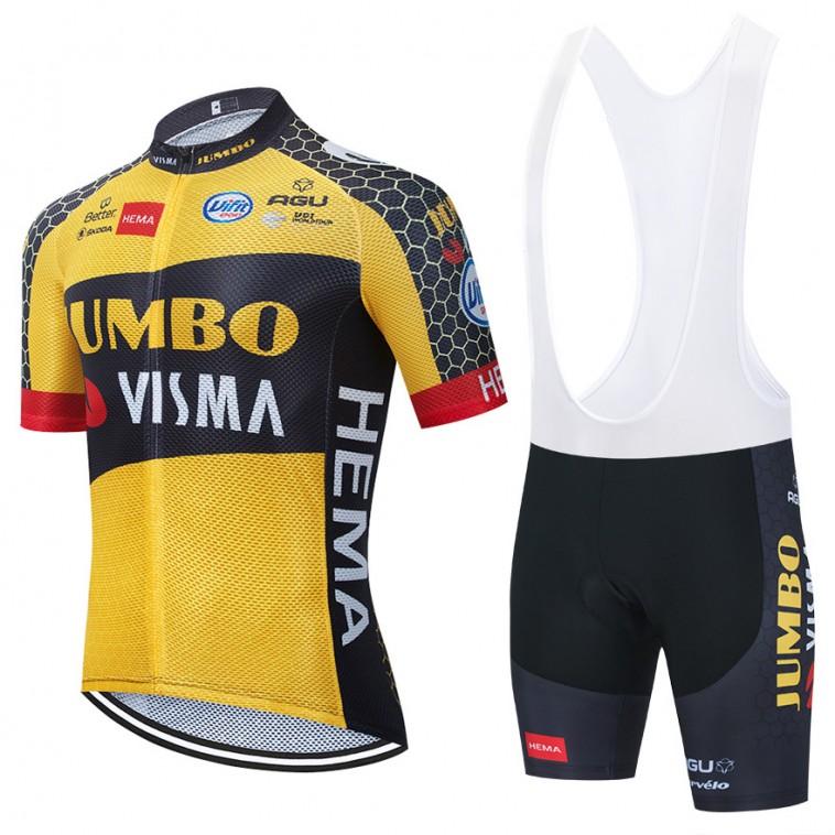 Ensemble cuissard vélo et maillot cyclisme équipe pro JUMBO VISMA 2021 Aero Mesh