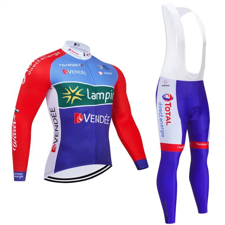 Ensemble cuissard vélo et maillot cyclisme hiver pro TOTAL 2021