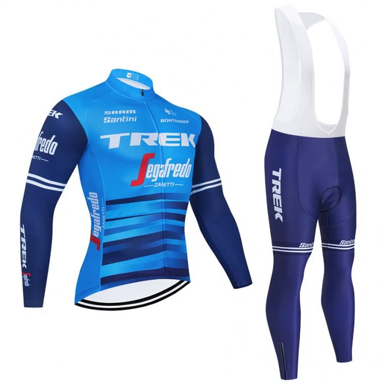 Ensemble cuissard vélo et maillot cyclisme hiver pro TREK Segafredo 2021