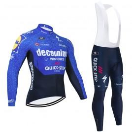 Ensemble cuissard vélo et maillot cyclisme hiver pro QUICK STEP Deceuninck 2021