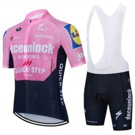 Ensemble cuissard vélo et maillot cyclisme équipe pro QUICK STEP Deceuninck 2021 Aero Mesh Pink