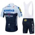 Ensemble cuissard vélo et maillot cyclisme équipe pro QUICK STEP Deceuninck 2021 Aero Mesh Black