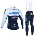 Ensemble cuissard vélo et maillot cyclisme hiver pro QUICK STEP Deceuninck 2021 Black
