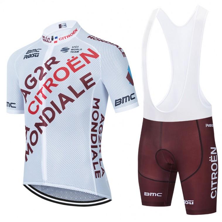 Ensemble cuissard vélo et maillot cyclisme équipe pro AG2R La Mondiale 2021 Aero Mesh