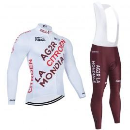 Ensemble cuissard vélo et maillot cyclisme hiver pro AG2R La Mondiale 2021