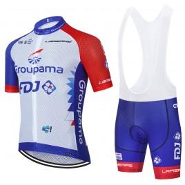 Ensemble cuissard vélo et maillot cyclisme équipe pro FDJ Groupama 2021 Aero Mesh
