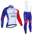 Ensemble cuissard vélo et maillot cyclisme hiver pro FDJ Groupama 2021
