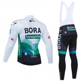 Ensemble cuissard vélo et maillot cyclisme hiver pro BORA 2021