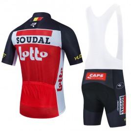 Ensemble cuissard vélo et maillot cyclisme équipe pro LOTTO SOUDAL 2021 Aero Mesh