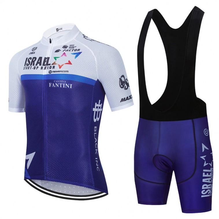 Ensemble cuissard vélo et maillot cyclisme équipe pro ISRAEL Cycling Academy 2021 Aero Mesh