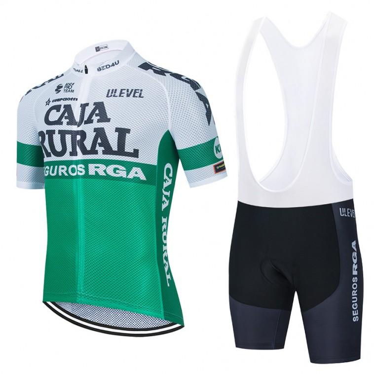 Ensemble cuissard vélo et maillot cyclisme équipe pro CAJA RURAL Seguros RGA 2021 Aero Mesh