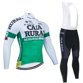 Ensemble cuissard vélo et maillot cyclisme hiver pro CAJA RURAL Seguros RGA 2021