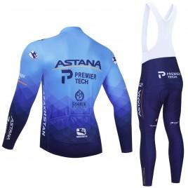 Ensemble cuissard vélo et maillot cyclisme hiver pro ASTANA 2021