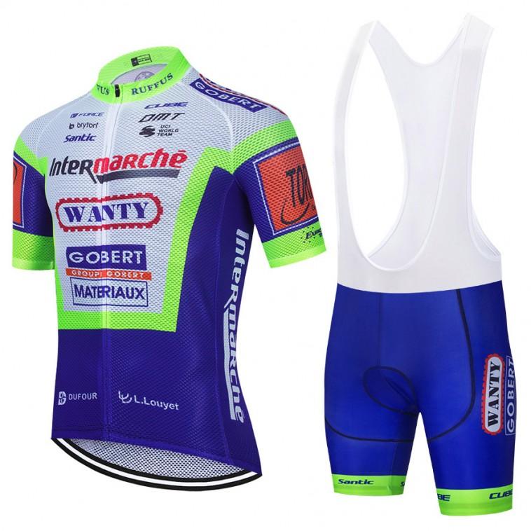 Ensemble cuissard vélo et maillot cyclisme équipe pro WANTY Gobert 2021 Aero Mesh