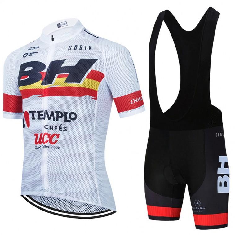 Ensemble cuissard vélo et maillot cyclisme équipe pro BH Templo Cafés UCC 2021 Aero Mesh Blanc