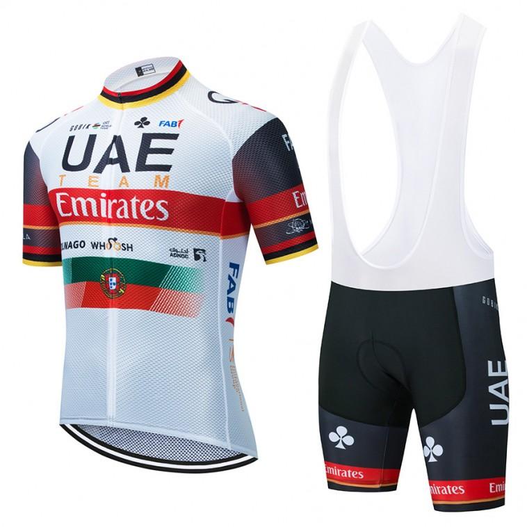 Ensemble cuissard vélo et maillot cyclisme équipe pro UAE EMIRATES 2021 Aero Mesh