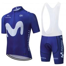 "Ensemble cuissard vélo et maillot cyclisme équipe pro MOVISTAR Aero Mesh ""Blue edition"""