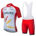 Ensemble cuissard vélo et maillot cyclisme équipe pro COFIDIS De Rosa 2021 Aero Mesh