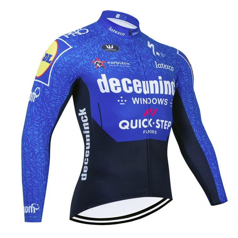 Maillot vélo hiver pro QUICK STEP Deceuninck 2021