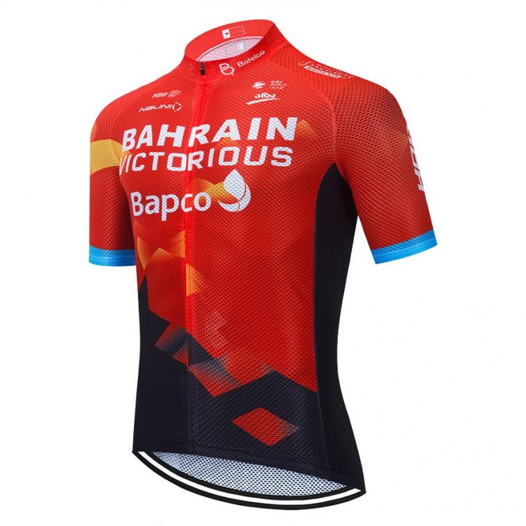 Maillot vélo équipe pro BAHRAIN 2021 Aero Mesh