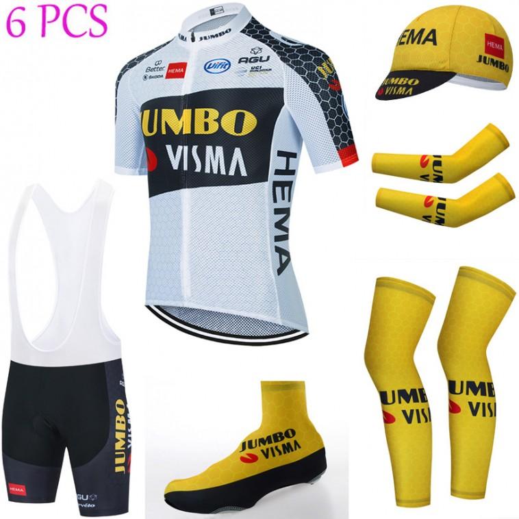 Tenue complète cyclisme équipe pro JUMBO VISMA 2021 Aero Mesh Blanc