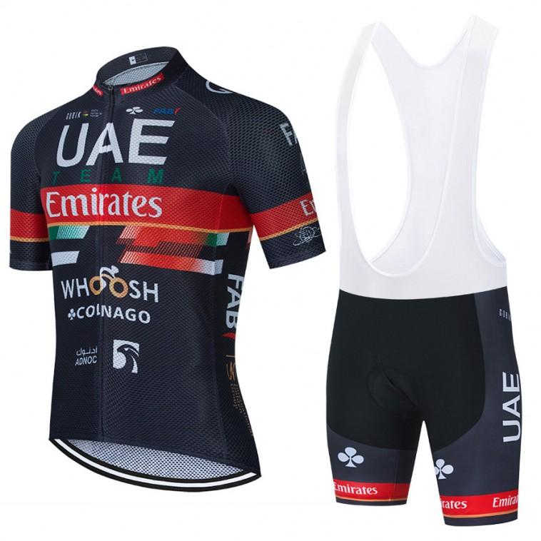 Ensemble cuissard vélo et maillot cyclisme équipe pro UAE EMIRATES 2021 Aero Mesh Noir