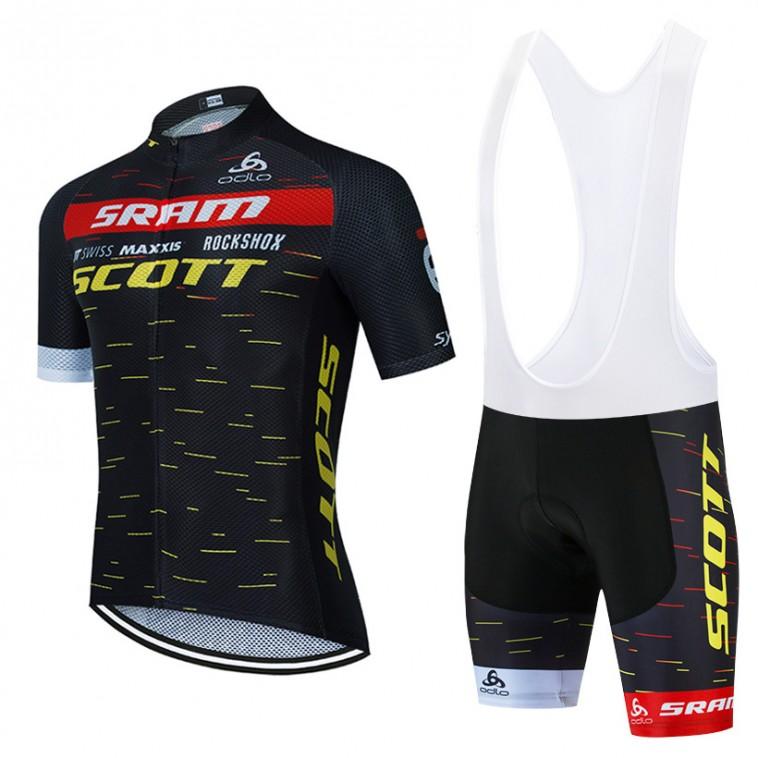Ensemble cuissard vélo et maillot cyclisme équipe pro SCOTT SRAM 2021 Aero Mesh
