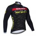 Maillot vélo hiver équipe pro SCOTT SRAM 2021