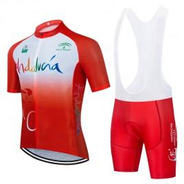 Ensemble cuissard vélo et maillot cyclisme équipe pro Andalucia 2021 Aero Mesh Rouge