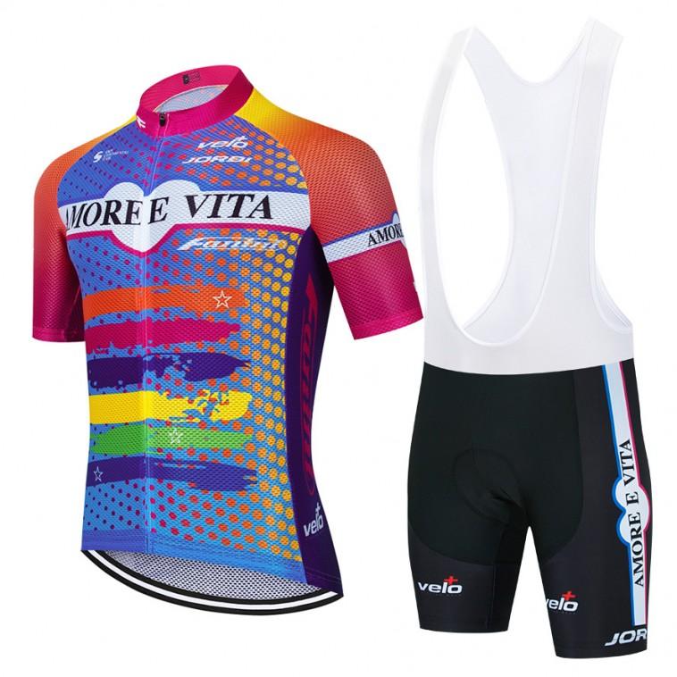Ensemble cuissard vélo et maillot cyclisme équipe pro AMORE E VITA Aero Mesh 2021