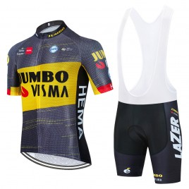 Ensemble cuissard vélo et maillot cyclisme équipe pro JUMBO Visma TOUR Aero Mesh 2021