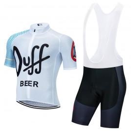 Ensemble cuissard vélo et maillot cyclisme pro vintage DUFF Beer Aero Mesh