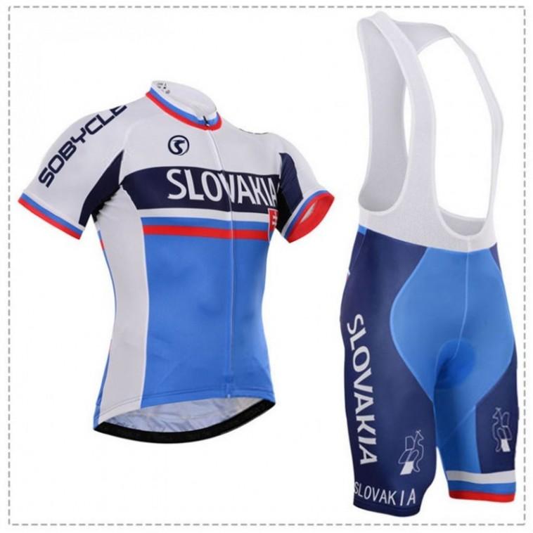Ensemble cuissard vélo et maillot cyclisme équipe pro Slovakia