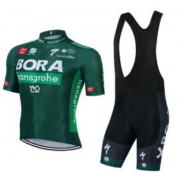 Ensemble cuissard vélo et maillot cyclisme équipe pro BORA Tour de France 2021 Aero Mesh