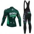 Ensemble cuissard vélo et maillot cyclisme hiver pro BORA Tour de France 2021